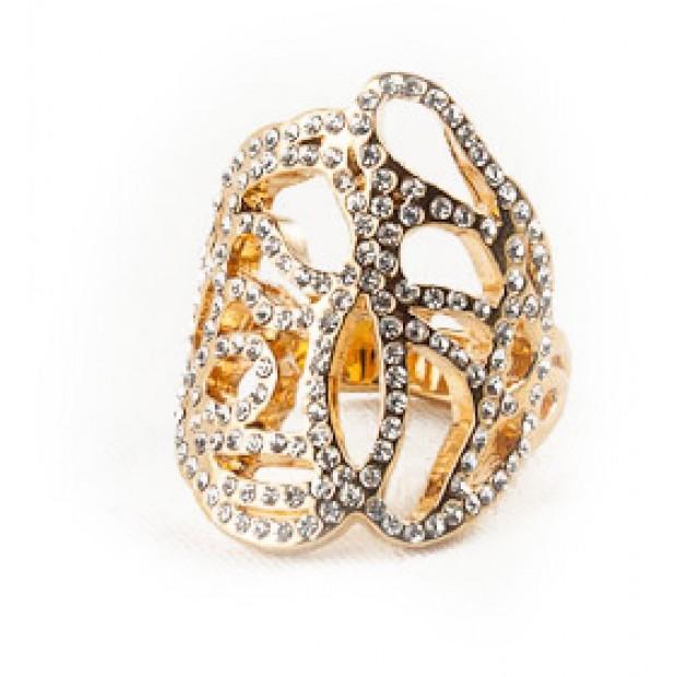 Swirl Ring - Rhinestones