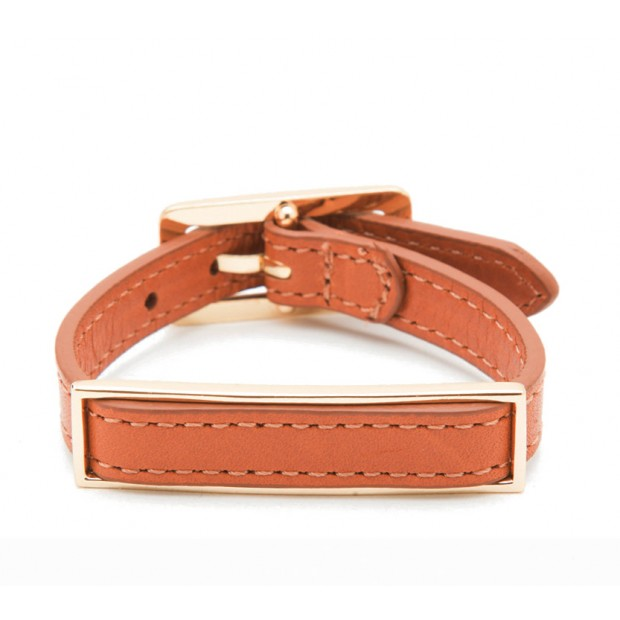 Leather ID Bracelet Collection -  Brown