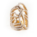 Swirl Ring - Pearls