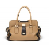 Suri Satchel - Creamy Tan / Black