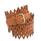 Diamond Waist Belt - Creamy Tan